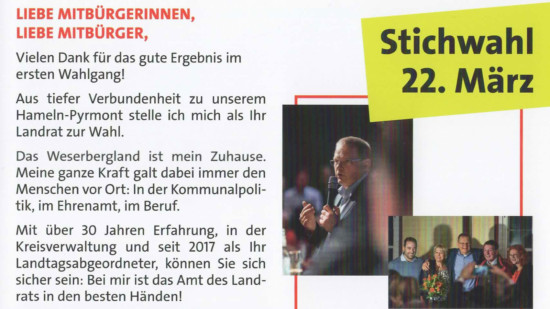 Stichwahl Flyer