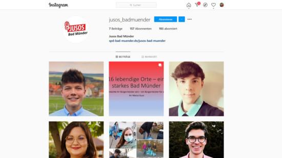 Titel der Jusos auf Instagram